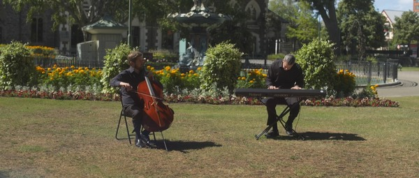 Kris Baines and Andrew Joyce, the principal cellist from the New Zealand Symphony Orchestra....