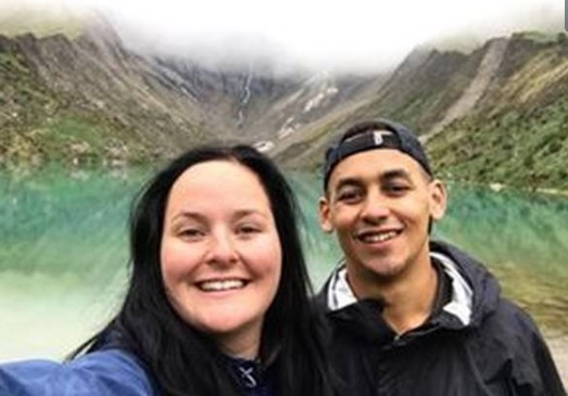 Emile Vollenhoven and Brittany Homan were holidaying in South America. Photo: Facebook via NZ Herald