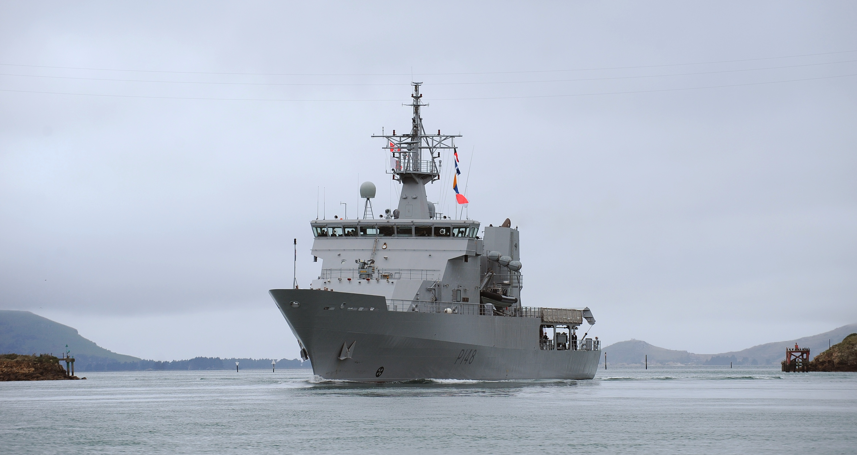 Dunedin is the home port for patrol vessel HMNZS Otago.