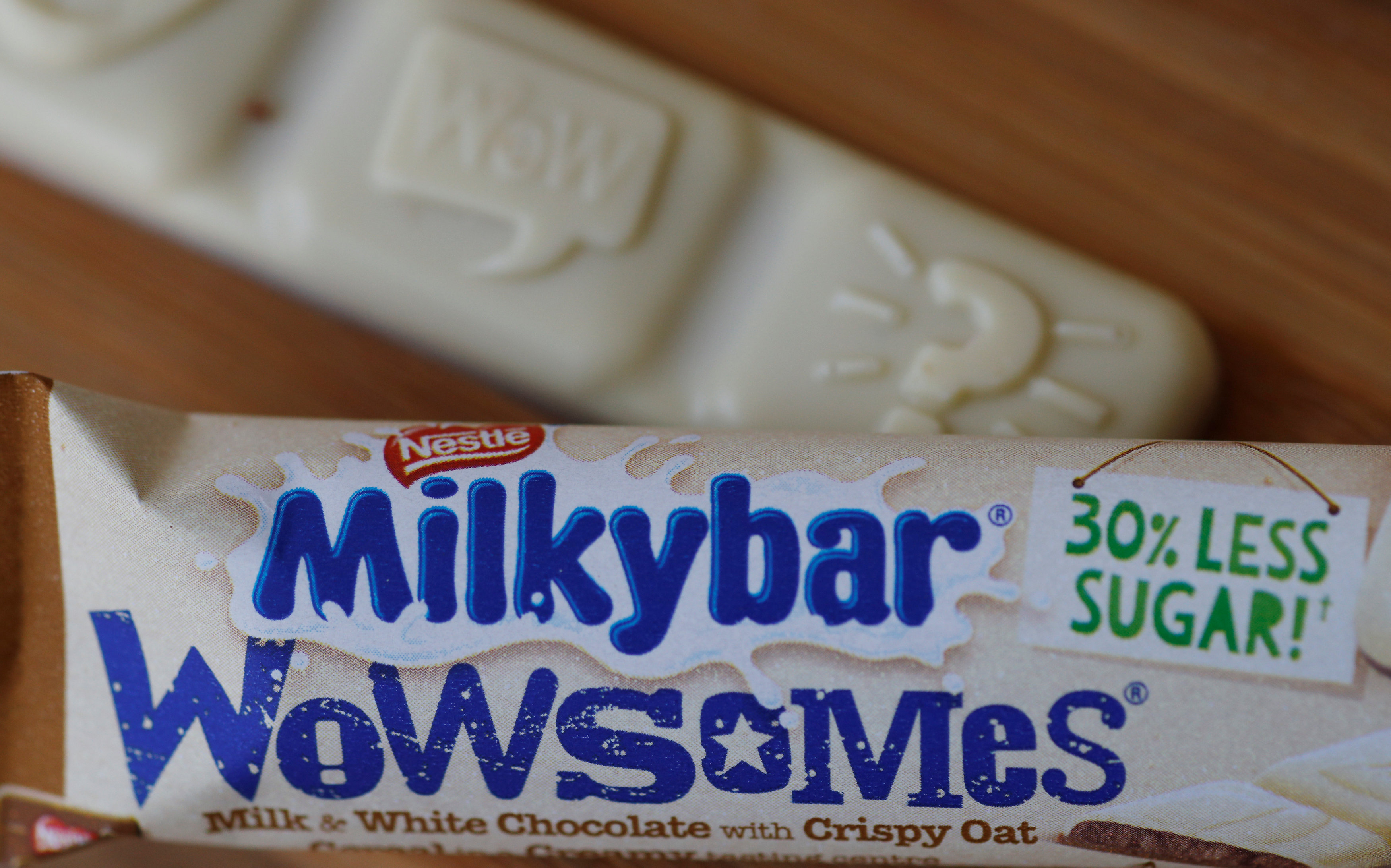 Nestle has launched a new Milkybar which contains 30% less sugar