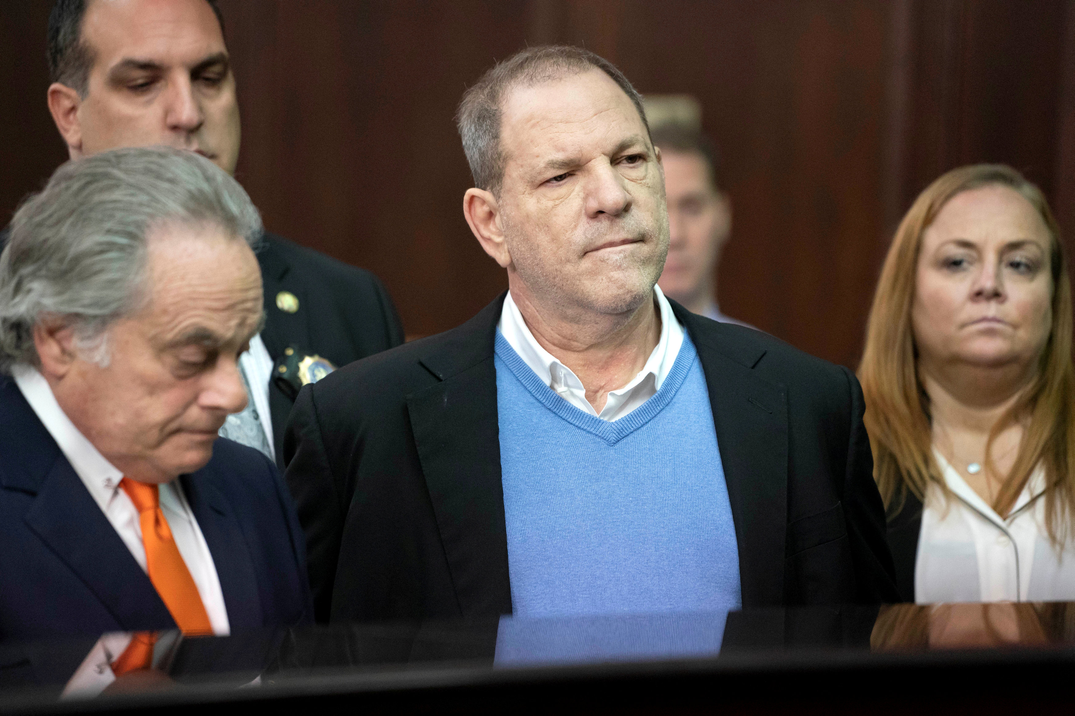 Harvey Weinstein (centre)  has been accused of sexual misconduct by more than 70 women. He has...