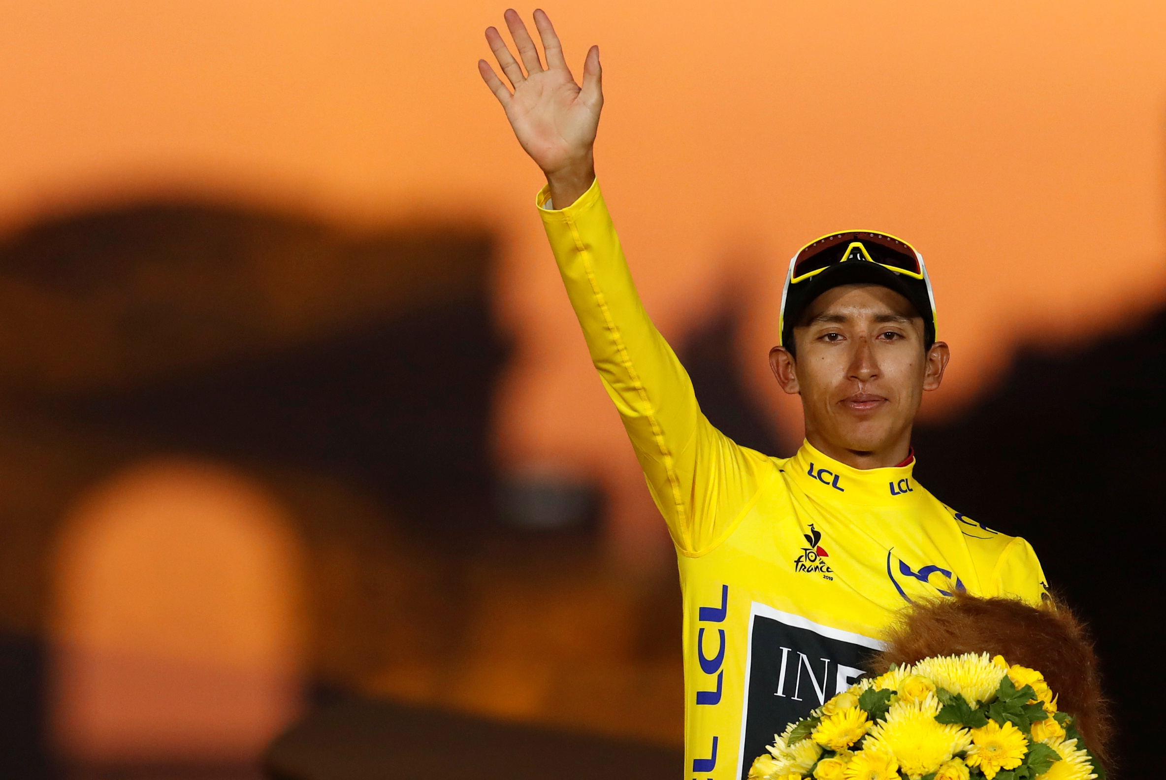 Egan Bernal is the youngest rider to win the race in 110 years. Photo: Reuters