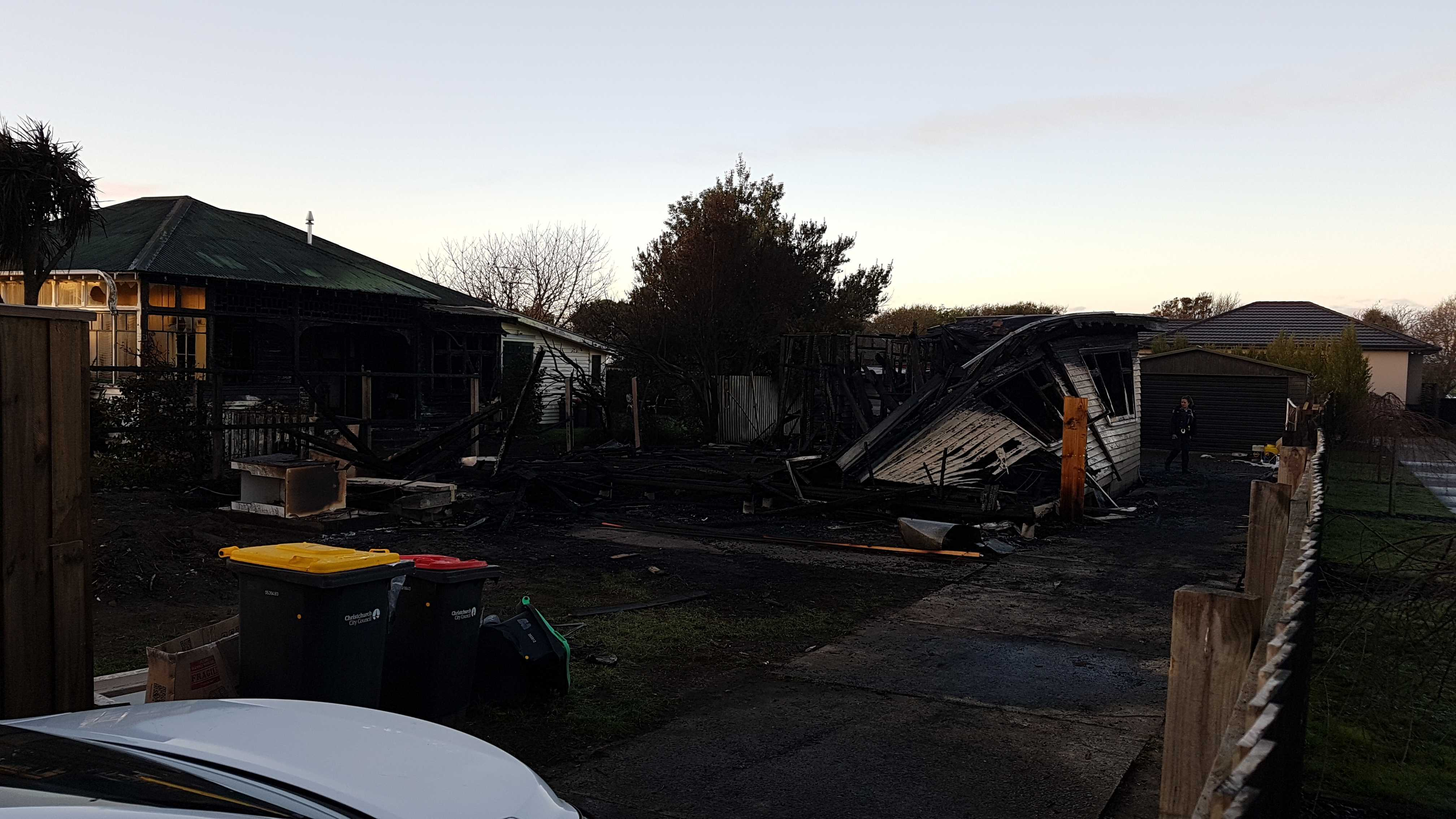Emergency services were called to the blaze on Rawson St in New Brighton about 1.45am.