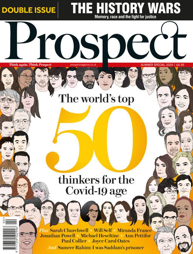 Prospect magazine's cover with Jacinda Ardern pictured top left. Image: Supplied via NZH