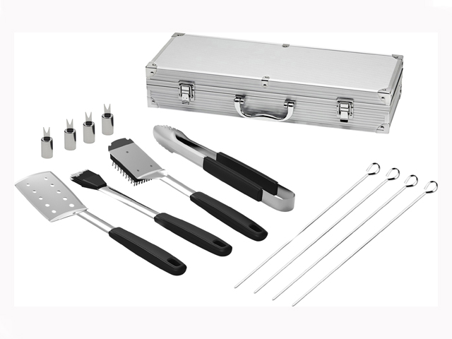 EXCLUSIVE Number 8 12pc BBQ Tool Set with case $49.98