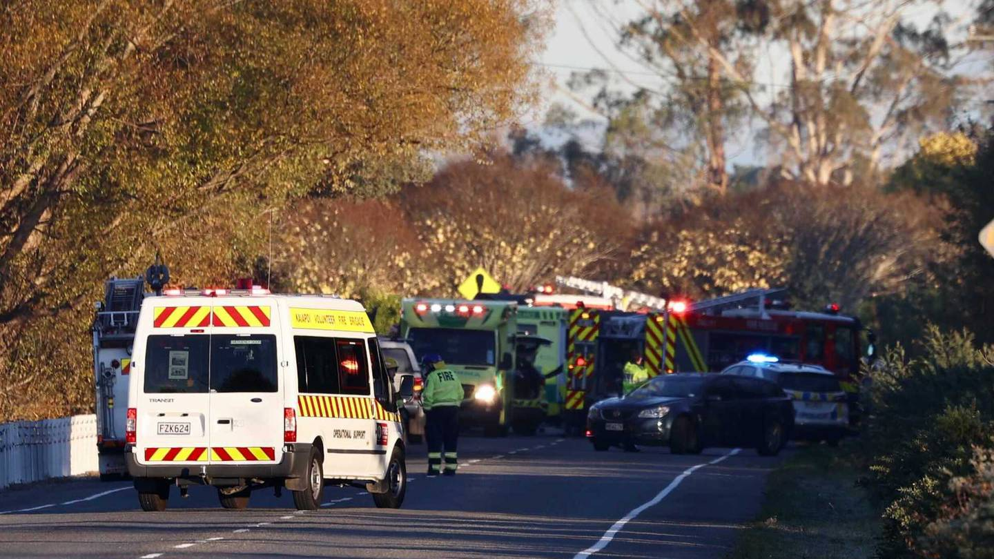 Emergency services were called to the scene on Tram Rd at about 7.29am. Photo: George Heard