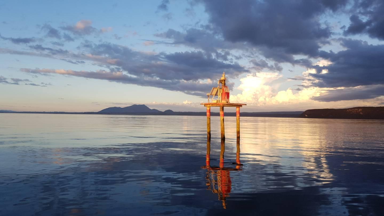 Lake Taupo's Horomatangi Reef. Photo: Richard Hine