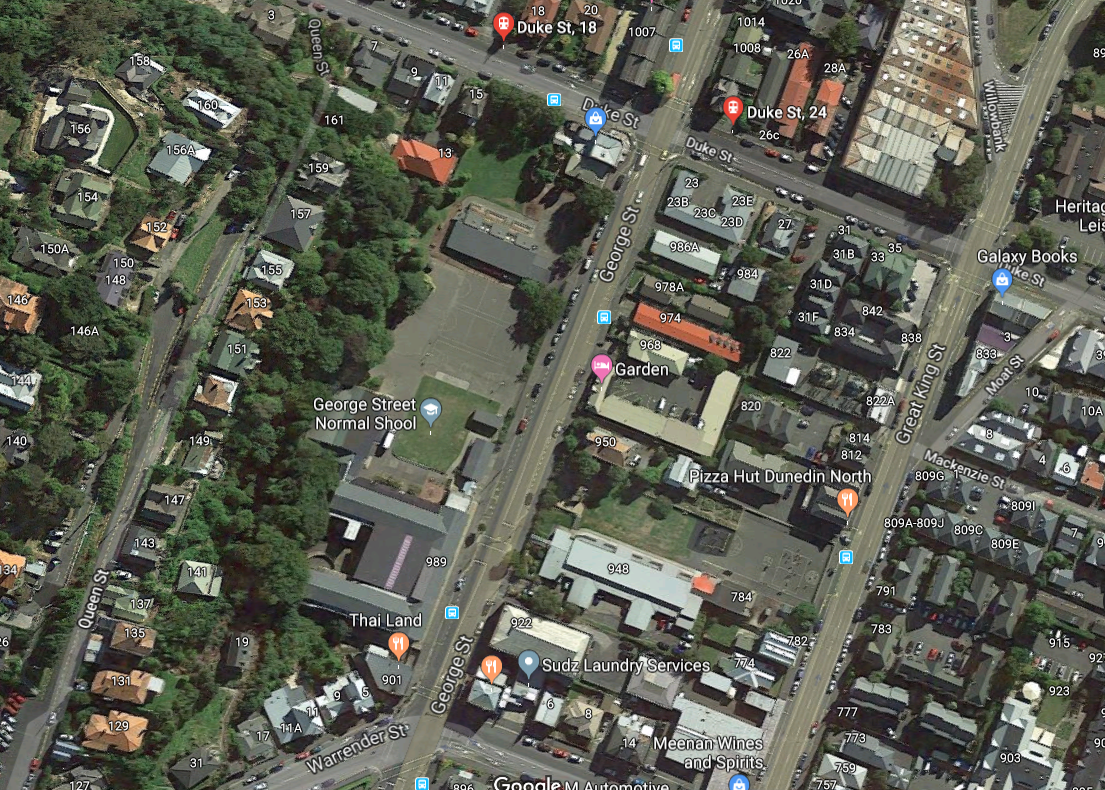 An aerial map showing areas of concern. Photo: Google Maps