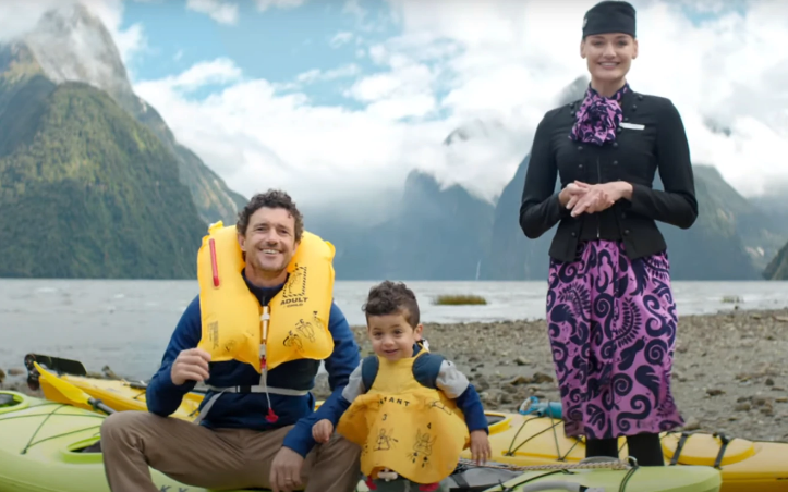 The Air NZ video features MIlford Sound. Photo: supplied