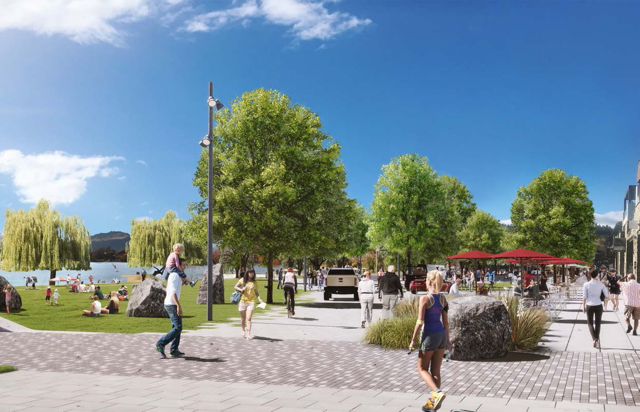 Artist's impression of potential Ardmore St shared space. Image: QLDC