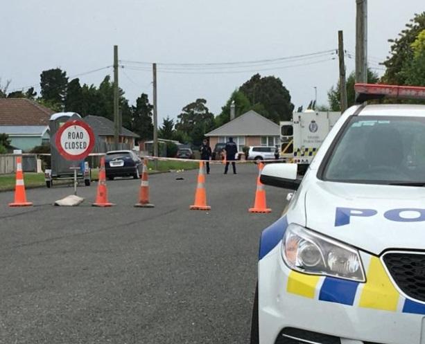 Police cordons near the scene following the alleged murder. Photo Toni Williams