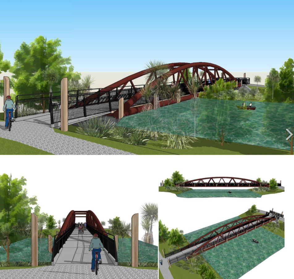 An artist's impression of the Avondale Bridge. Image: Newsline / CCC