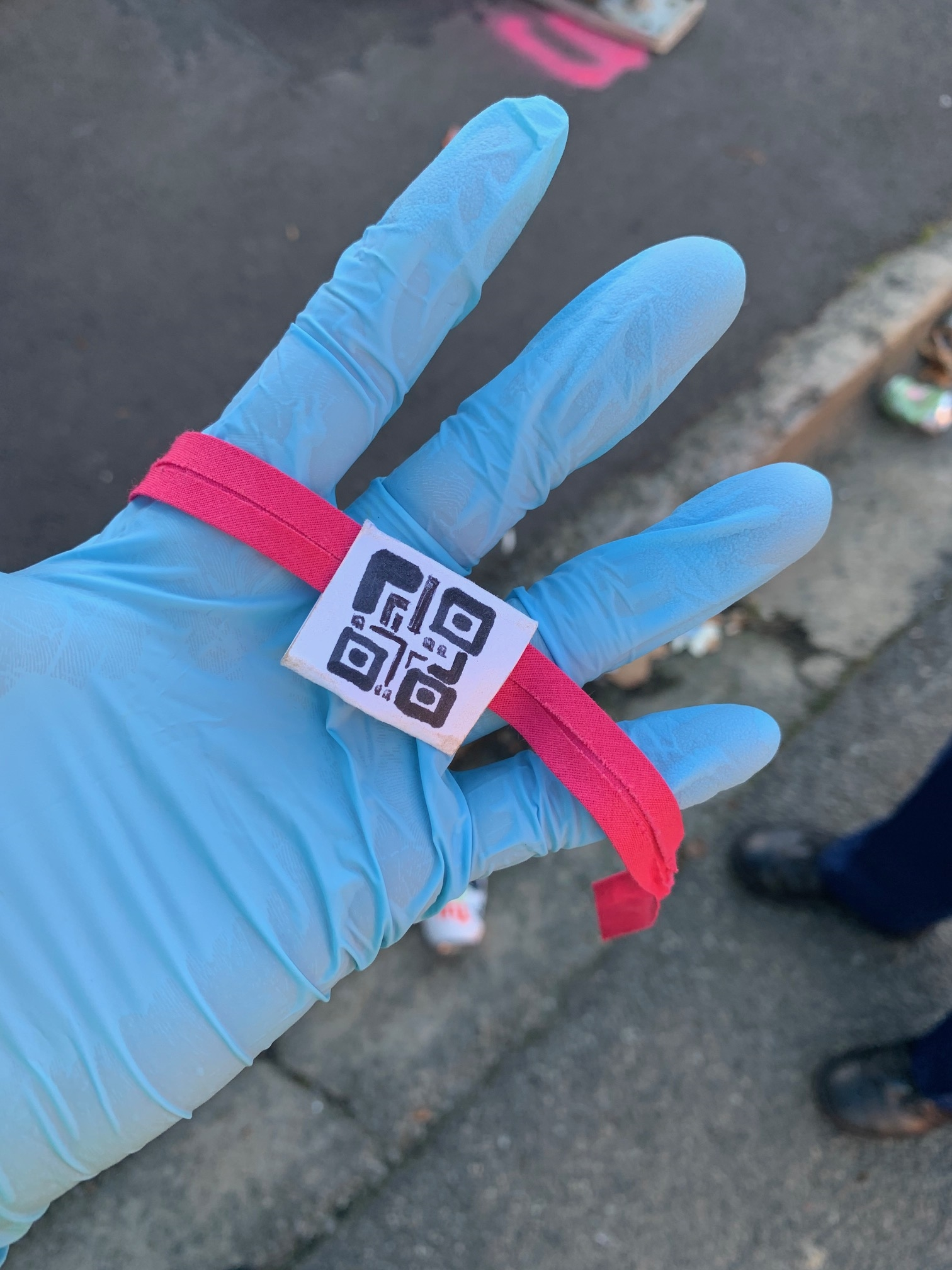 One of the fake bands used in an attempt to get into Hyde St. Photo: Supplied
