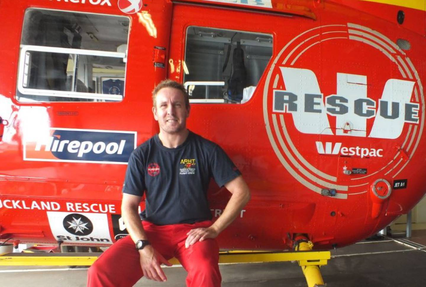 Intensive care paramedic Ross Aitken, of the Auckland Rescue Helicopter Trust, delivered a baby...