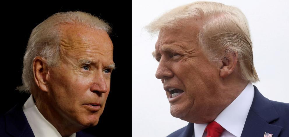 Joe Biden (left) and Donald Triump. Photo: Reuters