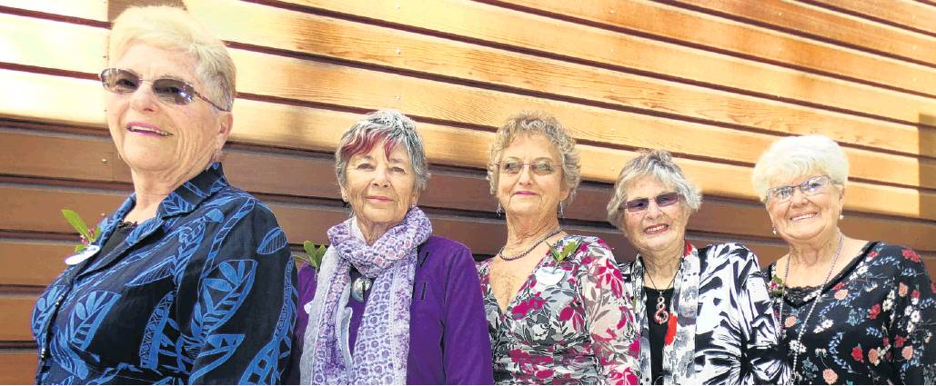 The senior queen entrants are (from left) Arielle Bazley, Sue Noble-Adams, Robin Hume, Gwen...