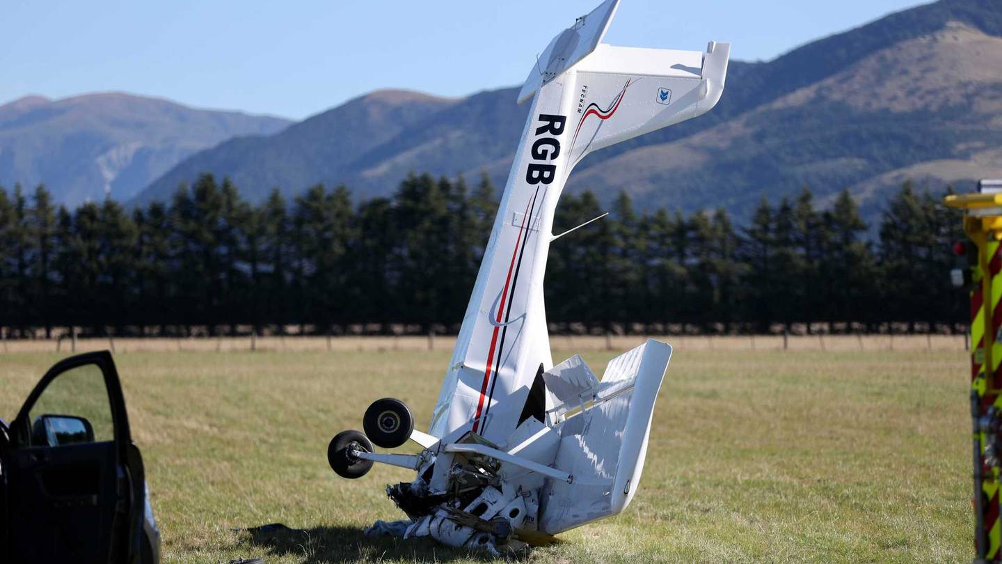 An instructor and trainee pilot were in the plane and have serious injuries. Photo: George Heard/...