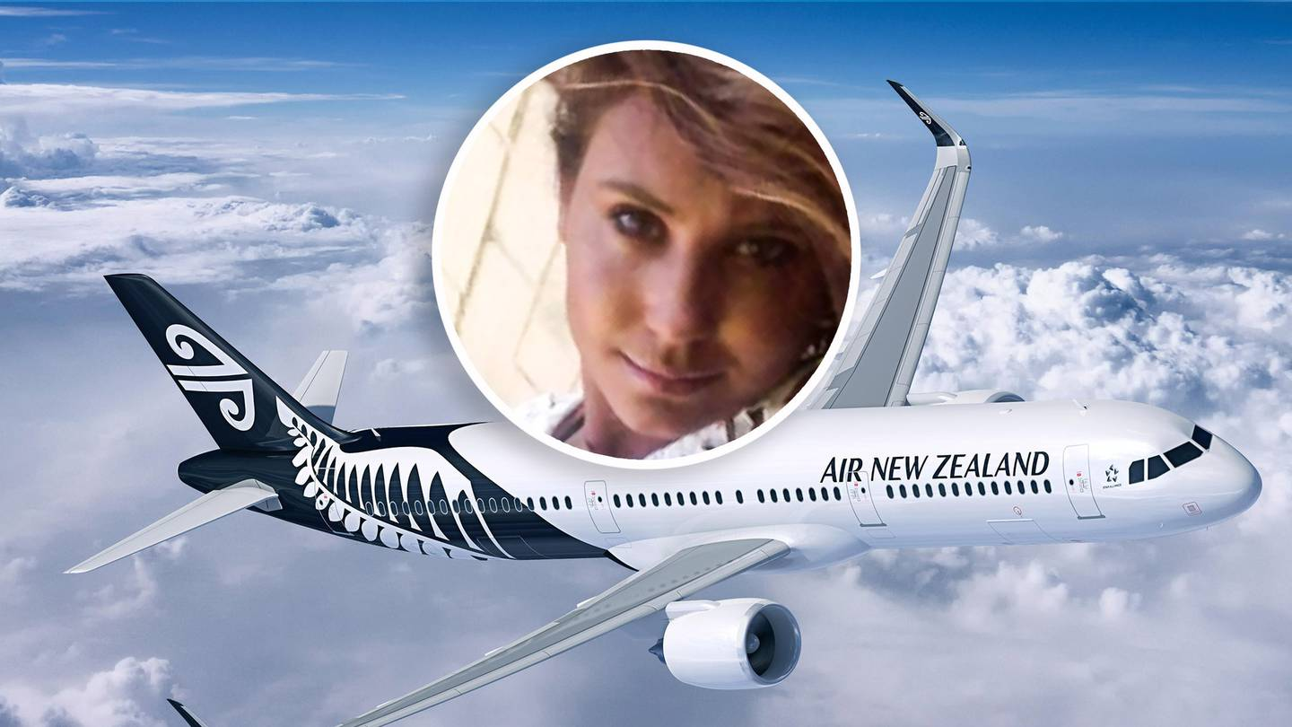 Hannah Pierson was charged with disorderly behaviour over the dramatic outburst on the Air NZ...