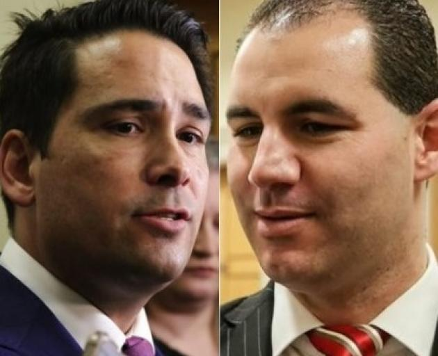 National leader Simon Bridges (left) and Jami-Lee Ross, the MP for Botany. Photo: RNZ