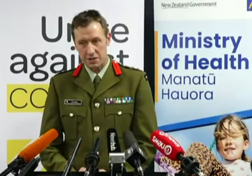 Brigadier Jim Bliss. Image: MInistry of Health