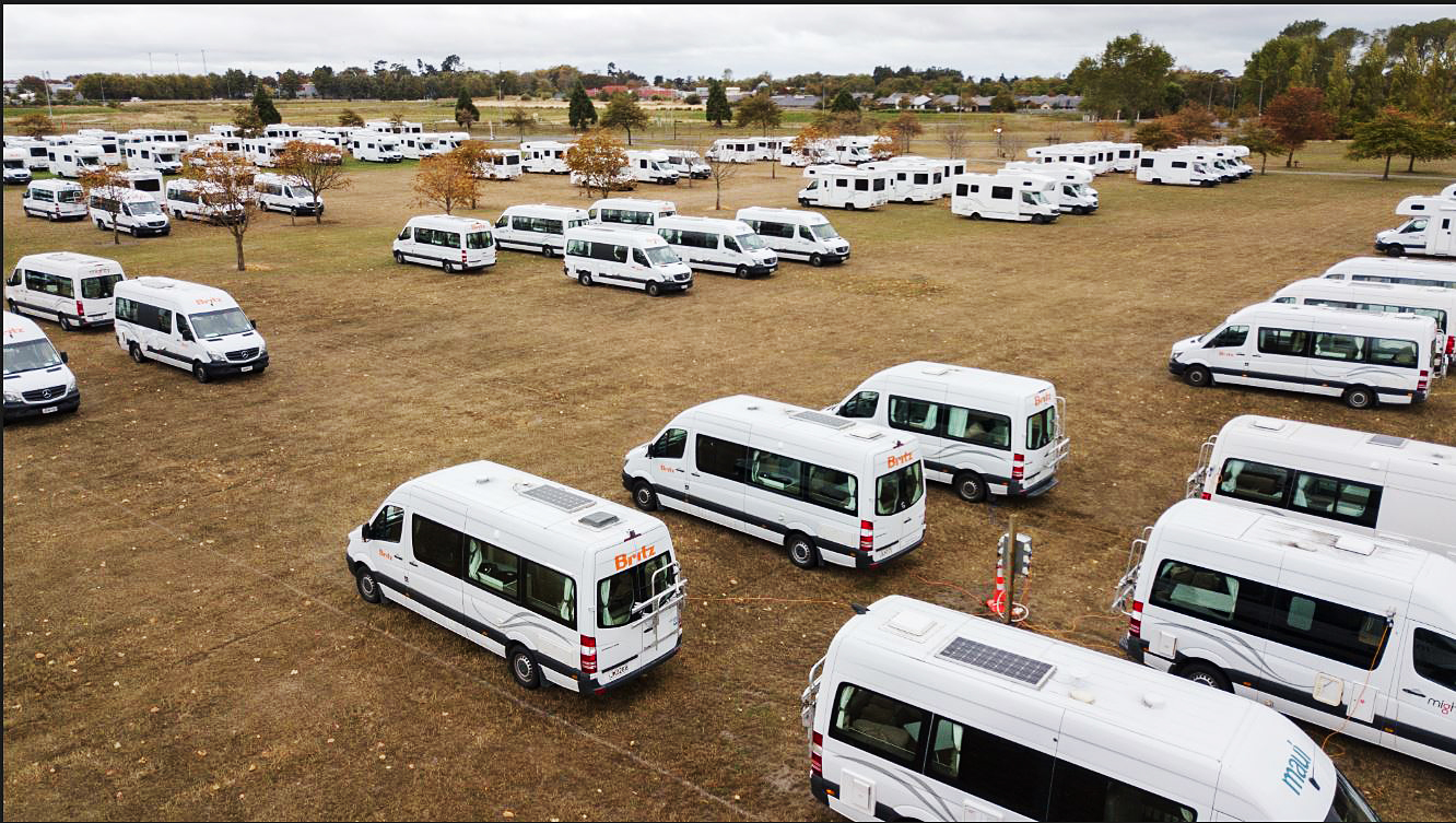 The self-contained campervan site at Canterbury Agricultural Park. Photo: Geoff Sloan