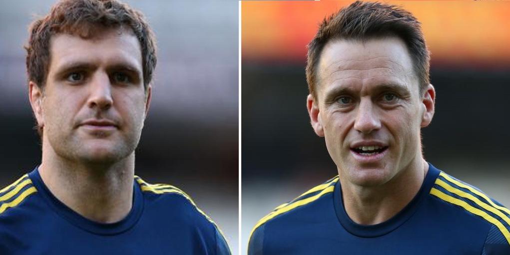 Highlanders co-captain Luke Whitelock (L) and Ben Smith. Photo: Getty