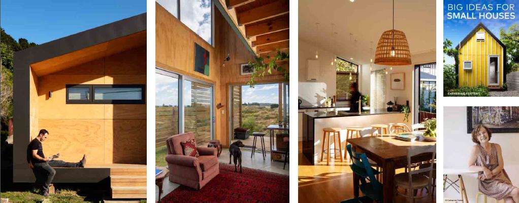 Far left and left: Seatown House, Wellington. (Photos: Jason Mann). Middle: Skyskraper Studio...