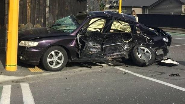 The victim's vehicle. Photo via NZ Herald