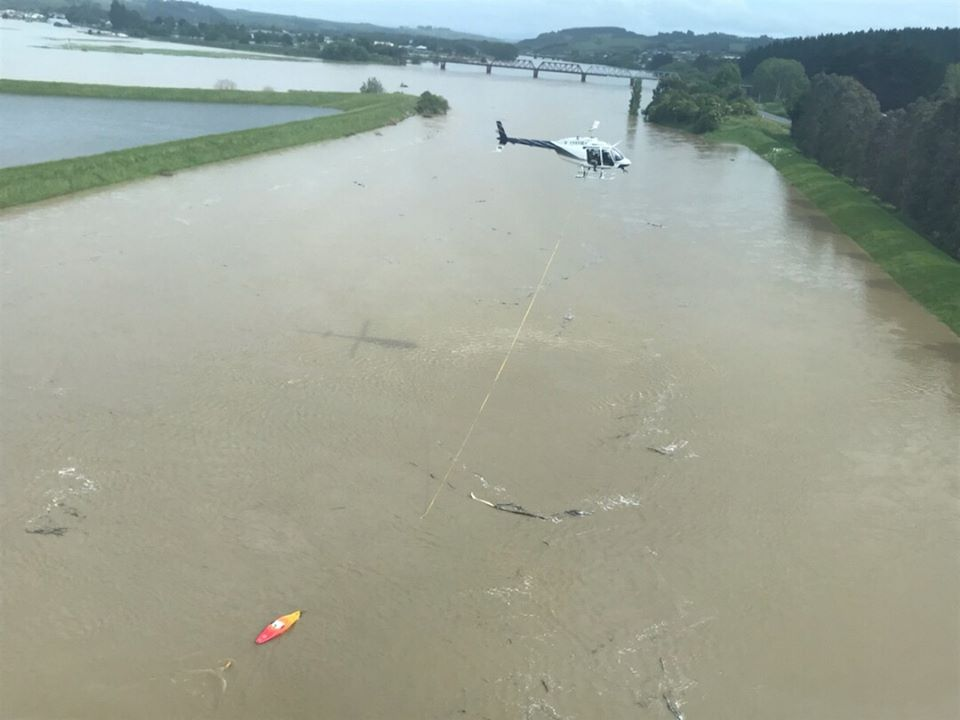 The Otago Regional Council is heli-gauging on the Clutha River, which measures the amount of...