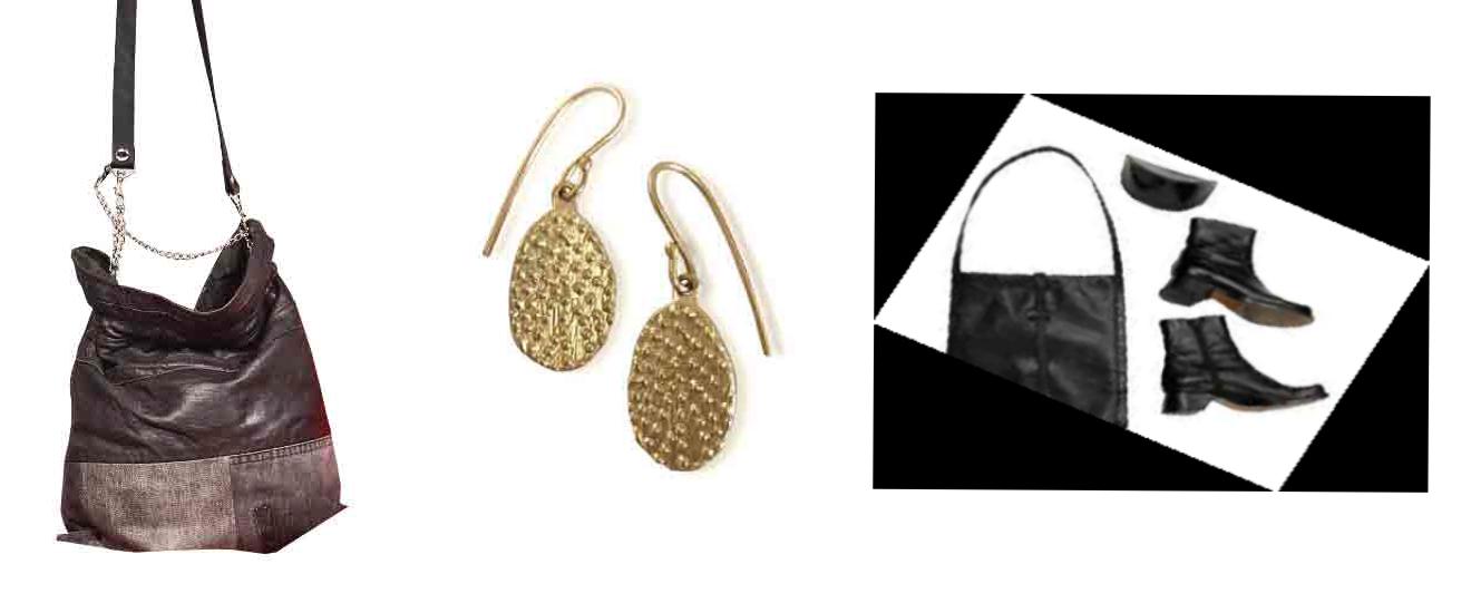Left: Company of Strangers Money Bag, $595, handmade in Dunedin from repurposed denim and leather...