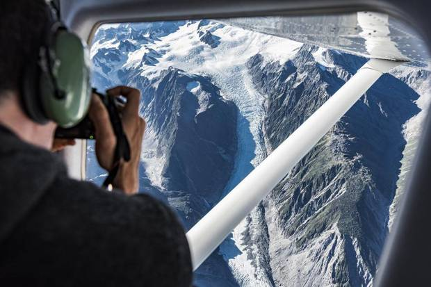 Dr Huw Horgan of Victoria University looks out at the Fox Glacier. Since the 1970s it has...