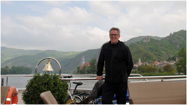 Tony (Dunedin) cruising the Danube.