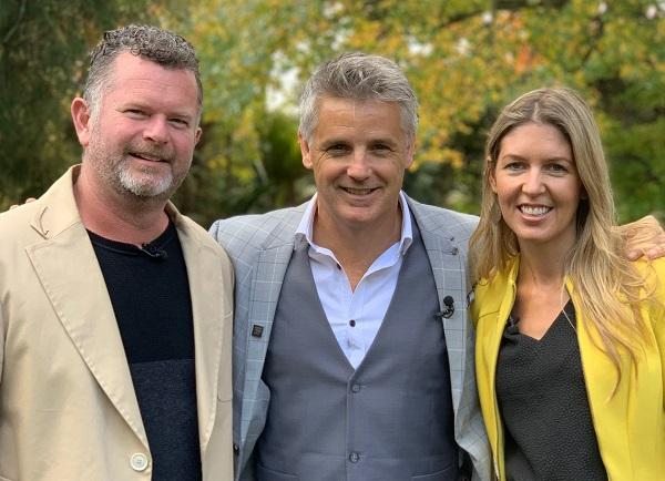 Harcourts auctioneer Shane Cortese, centre, who presents Dream Home Dilemma with Hamish Dodd and...