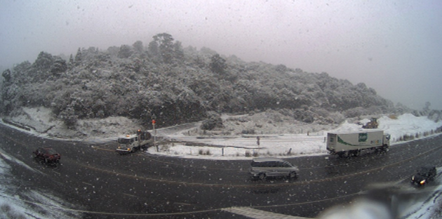 Dunedin's Northern Motorway late this morning. Photo: MetService