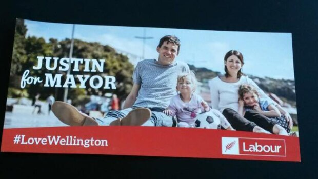 Justin Lester's election campaign material. Photo: supplied via NZ Herald