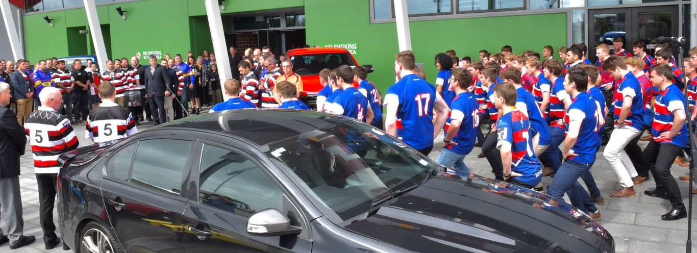 Central Southland College's First XV, who were coached by Mr Vining, performed a haka at the...