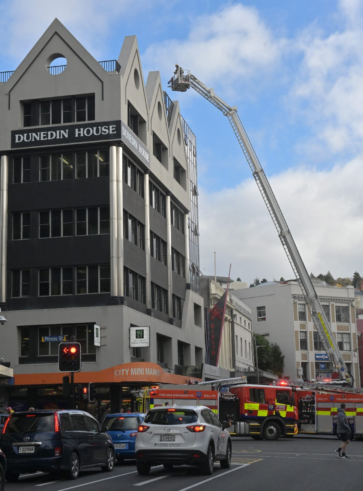 Firefighters were called to a blaze in Central Dunedin. Photo: Linda Robertson