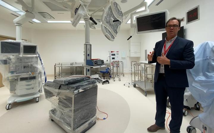 Canterbury DHB clinical lead for facilities redevelopment Dr Rob Ojala. Photo: RNZ / Katie Todd