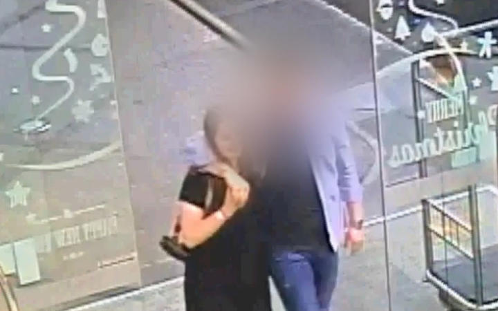CCTV footage of the accused man and Grace Millane entering CityLife at 9.40pm on December 1 last...