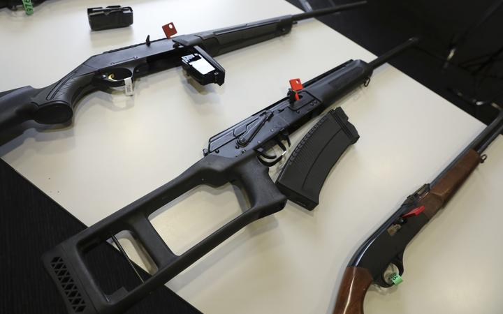Military style semi-automatic firearms, parts and ammunition were banned following the mosque...