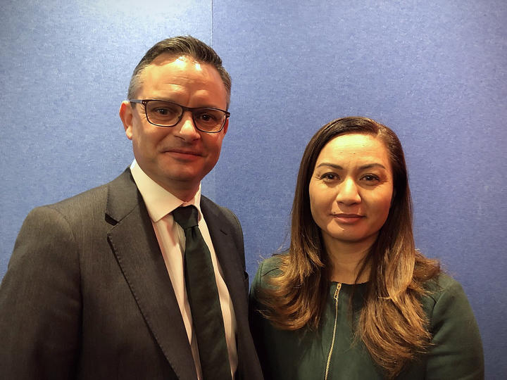 Green Party co-leaders James Shaw and Marama Davidson. Photo: RNZ