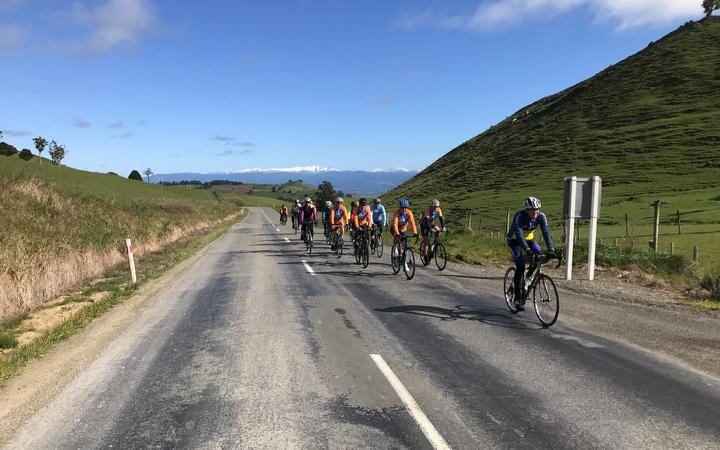 Winkie on a training ride. Photo: Supplied
