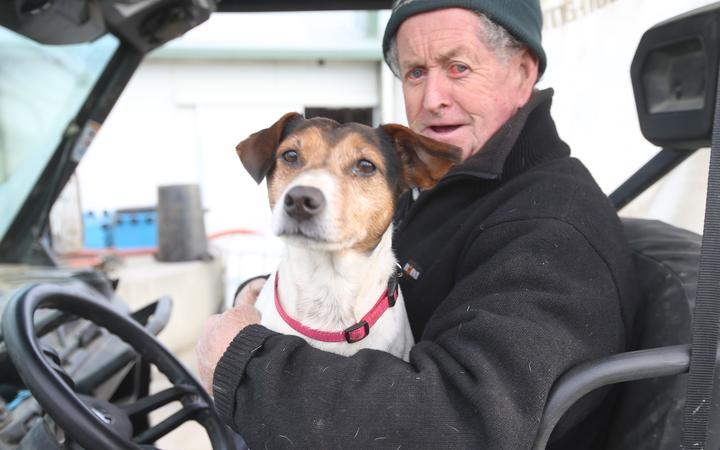 Greenstreet dairy farmer Dave Stewart and Max are safely back on the farm at Greenstreet, near...