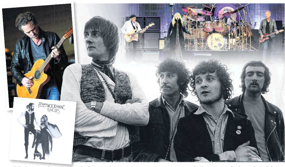 From left, the 1968 line-up of Mick Fleetwood, Peter Green, Jeremy Spencer and John McVie....