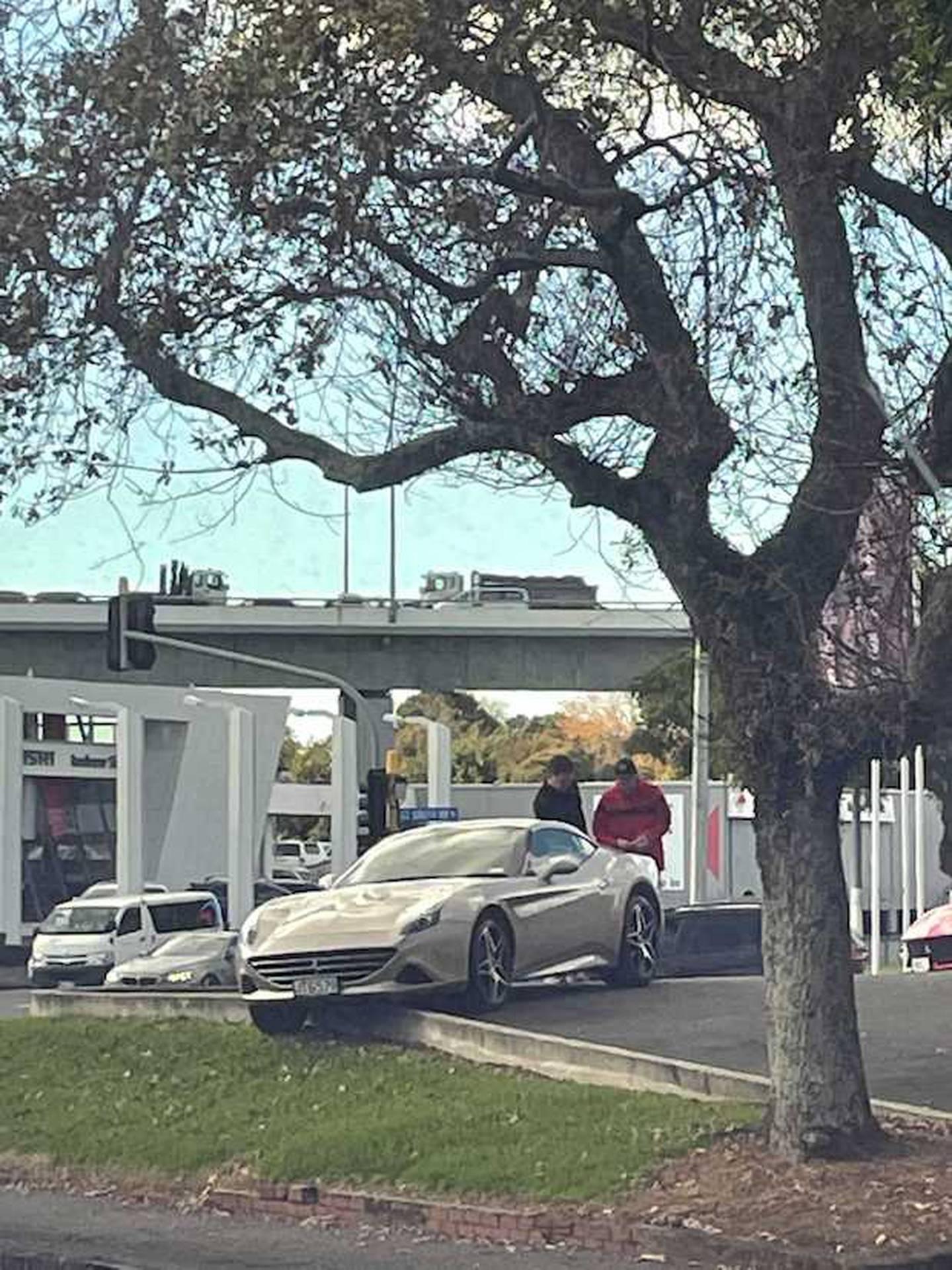 How not to park a Ferrari. Photo: Supplied via NZH