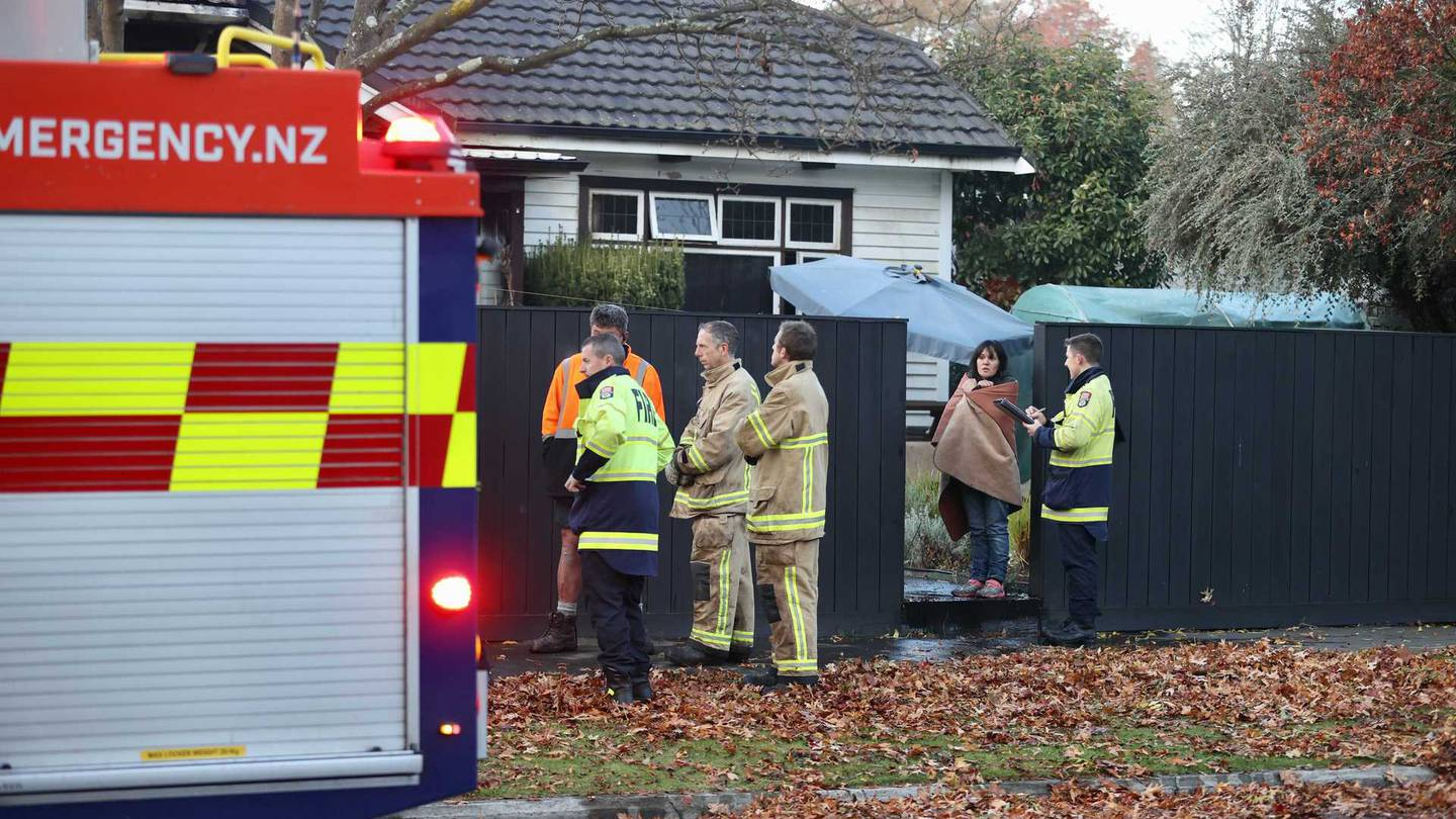 Emergency services at the St Albans house this morning. Photo: George Heard