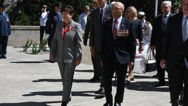 Defence Minister Ron Mark at Armistice Day commemoration in November. Photo: NZ Herald