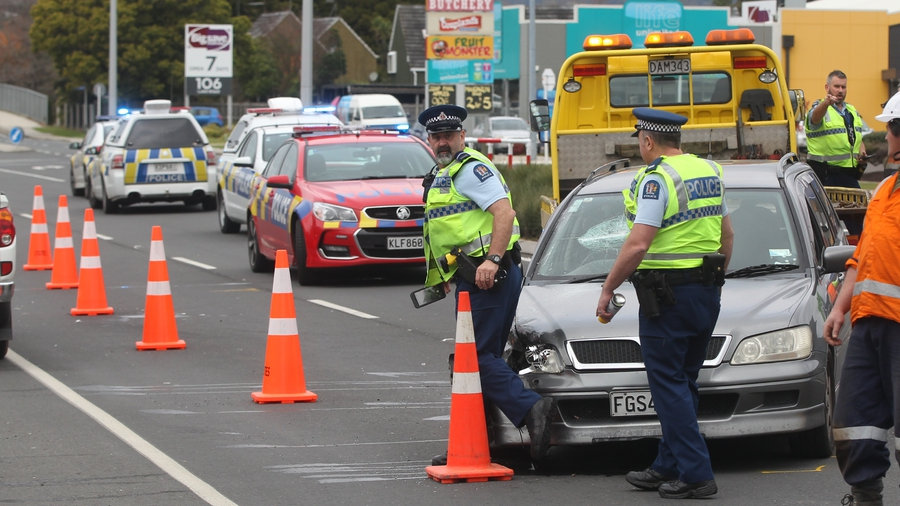 Mongrel mob members were run off the road by Black Power on a busy Rotorua street. Photo: Stephen...