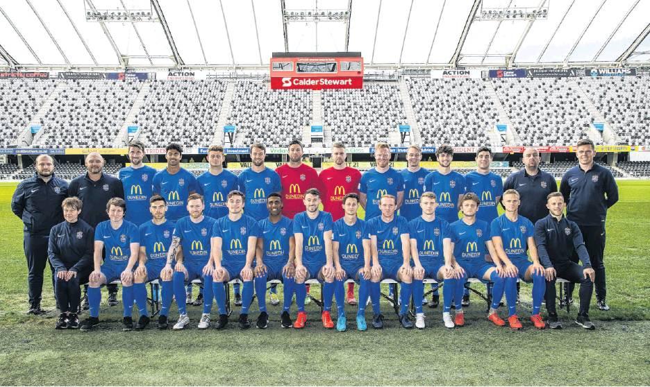 The 2019-2020 Southern United men's squad for the ISPS Handa Premiership. PHOTO: ADAM BINNS...