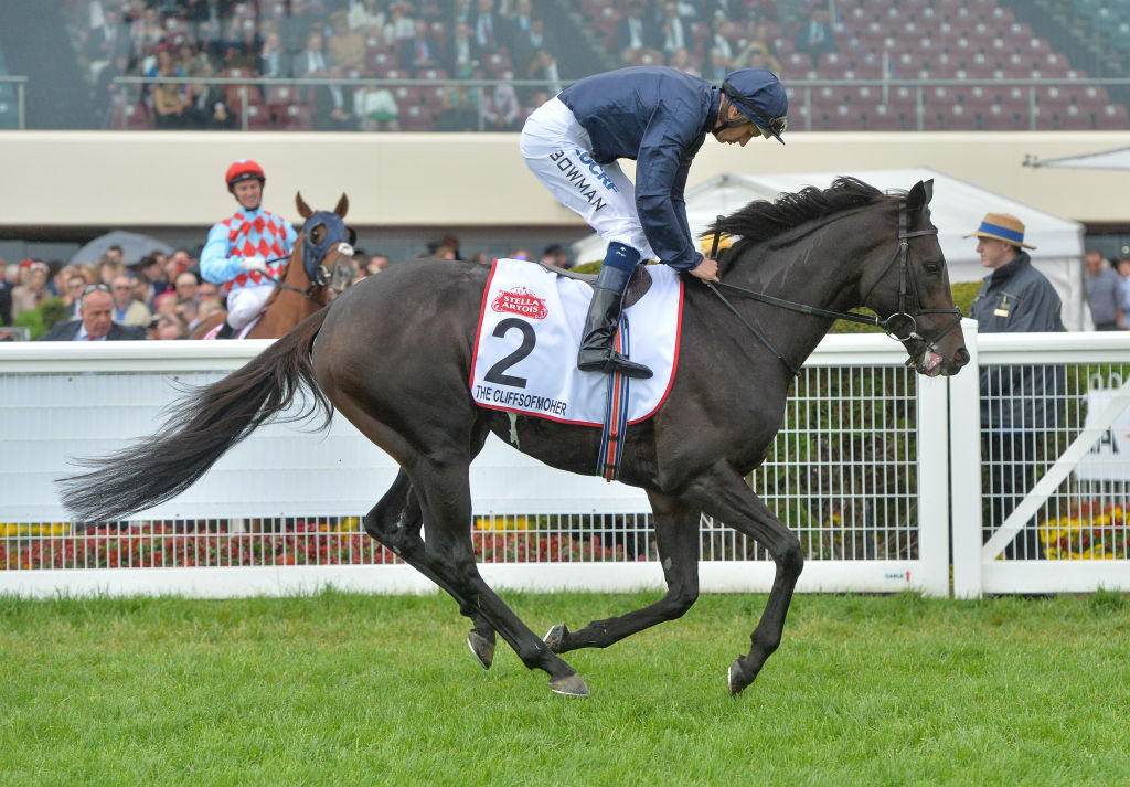 The Cliffsofmoher ridden by Hugh Bowman at Caulfield Racecourse in Melbourne last month. Photo:...